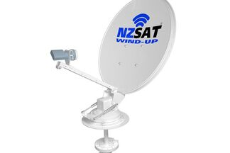 NZ Sat Wind up satellite dish